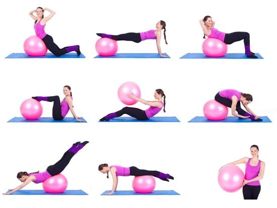 Exercitii cu mingi de fitness