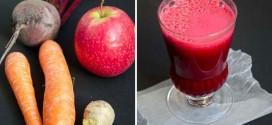 Dieta cu suc de sfeclă roşie, morcov şi măr