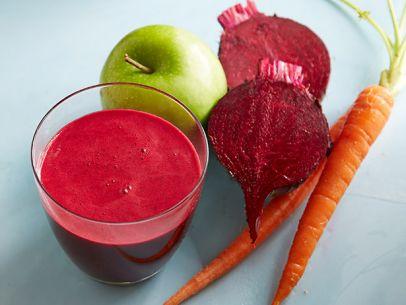 suc de sfeclă roşie, morcov şi măr