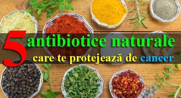 Top 5 antibiotice naturale care te protejează de cancer