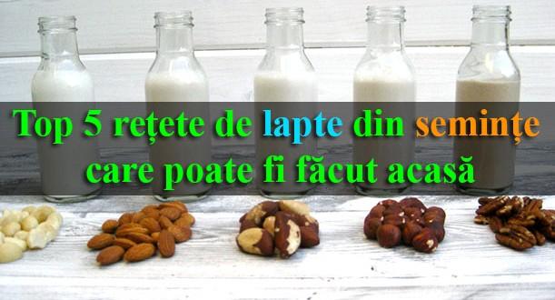 Top 5 rețete de lapte din semințe care poate fi făcut acasă